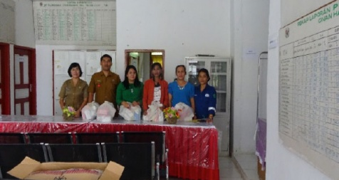 <p>Distribution of monthly support for Posyandu Lansia through village midwives, NIL area</p>